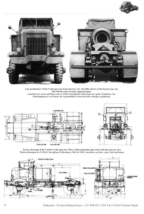 U S Ww Ii Autocar U 7144 T Amp U 8144 T Tractor Trucks