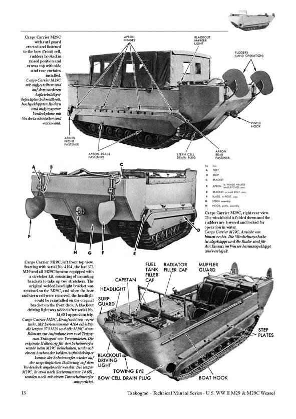 U S Ww Ii M29 And M29c Weasel Tankograd Publishing