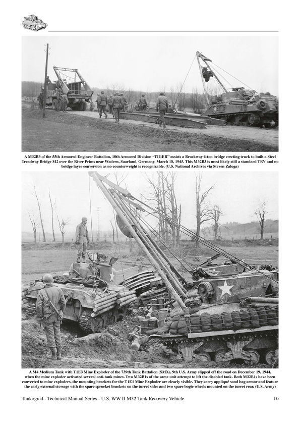 U S Ww Ii M32 M31b1 M32b2 M32b3 Tank Recovery Vehicles
