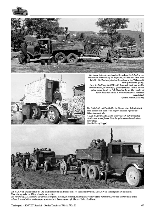 Soviet Trucks Of Ww2 In Red Army And Wehrmacht Service