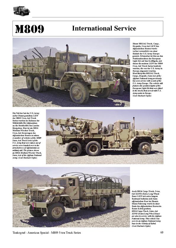 M809 5-ton 6x6 Truck Series - TANKOGRAD Publishing - Verlag Jochen ...
