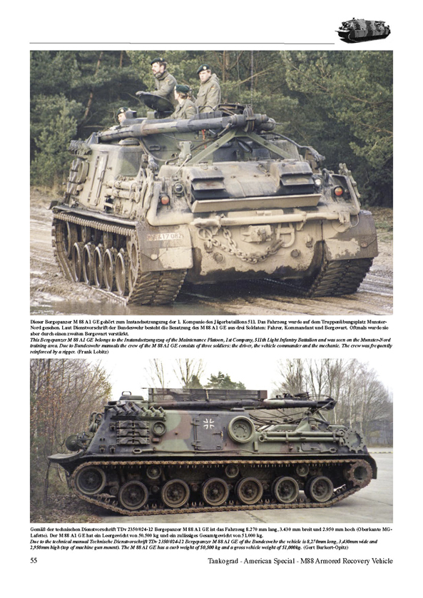 M88 armored recovery vehicle tankograd publishing verlag jochen m88 armored recovery vehicle reheart Images