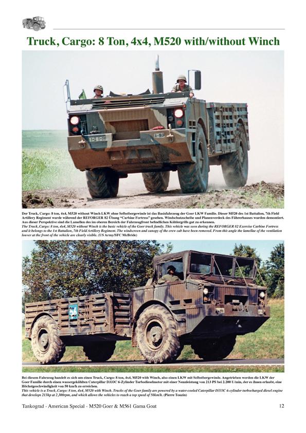 Tankograd 3018 M520 Goer M561 Gama Goat Knickgelenk-Lastkraftwagen der US-Army