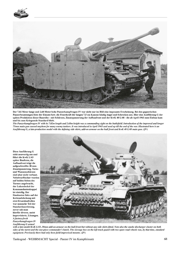 NEU /& 4006 Panzer IV im Kampfeinsatz-NEUAUFLAGE,Tankograd