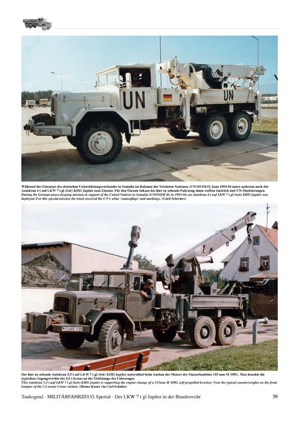 JUPITER<br>Der LKW 7 t gl (6x6) KHD Jupiter und seine Varianten in ...
