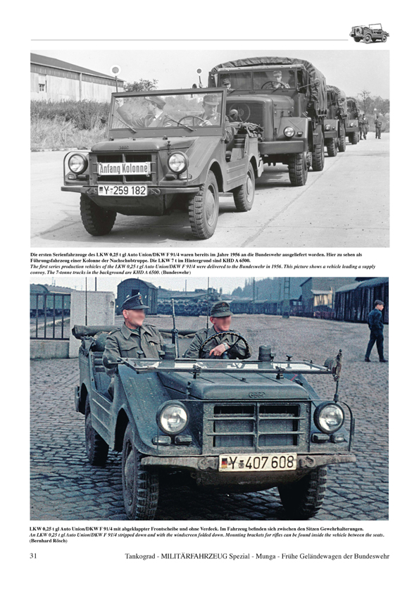 MUNGA Early Light All-Terrain Vehicles of the Bundeswehr: Goliath and Porsche Jagdwagen, VW ...
