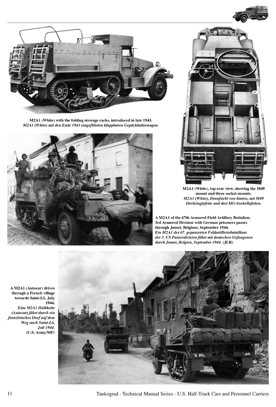 U.S. WWII Half-Track Cars M2, M2A1, M9A1 and Personnel Carriers etc - Tankograd