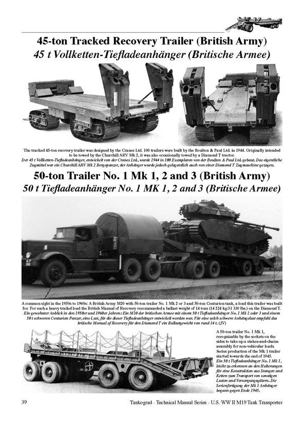 U S Ww Ii M19 Tank Transporter Tankograd Publishing