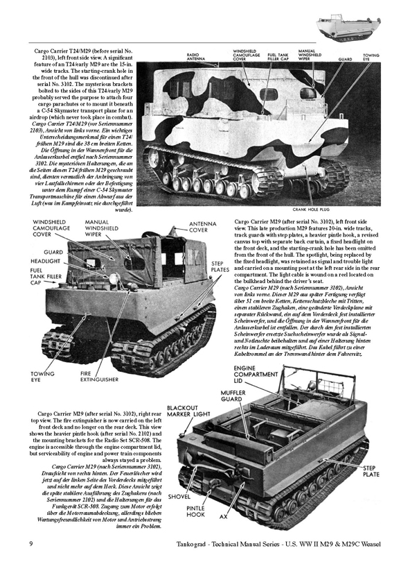 u s ww ii m29 and m29c weasel tankograd publishing verlag wwii amphibious weasel u s ww ii m29 and m29c weasel