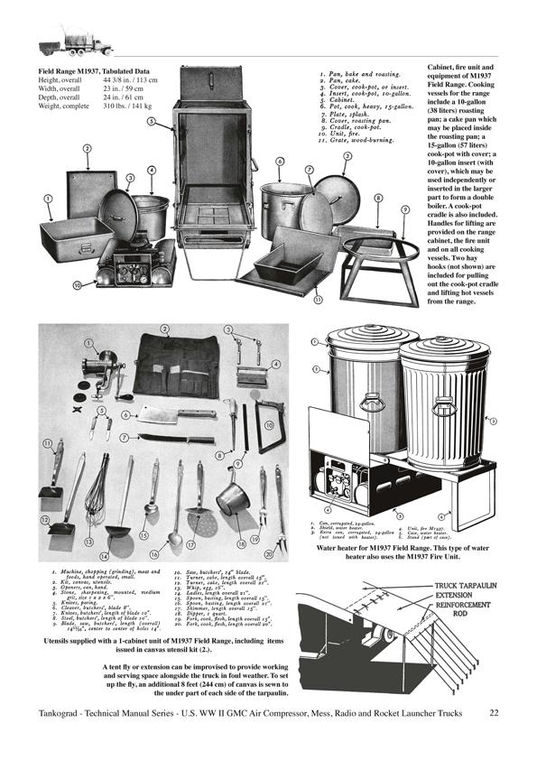 U S  WW II GMC - Air Compressor Trucks, Mess Trucks, Radio