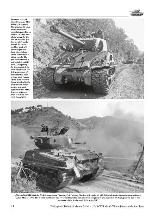 U.S. WW II & Korea M4A3 Sherman (76mm) Medium Tank ...