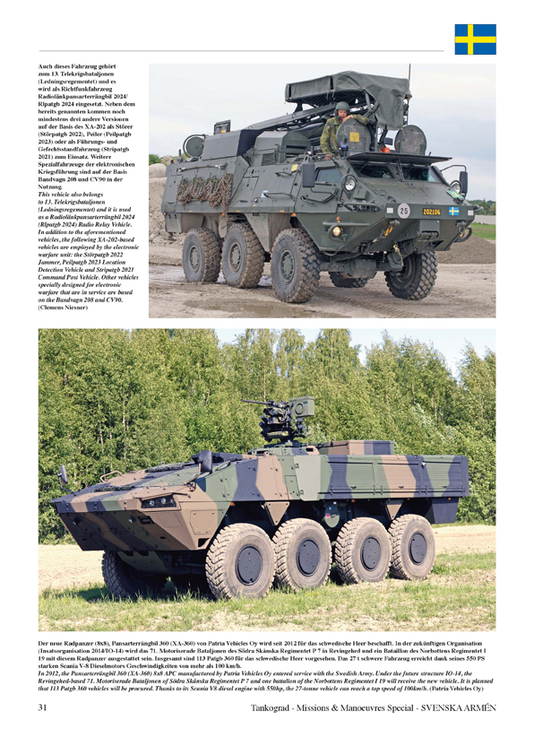 Svenska Arm 233 N Vehicles Of The Modern Swedish Army